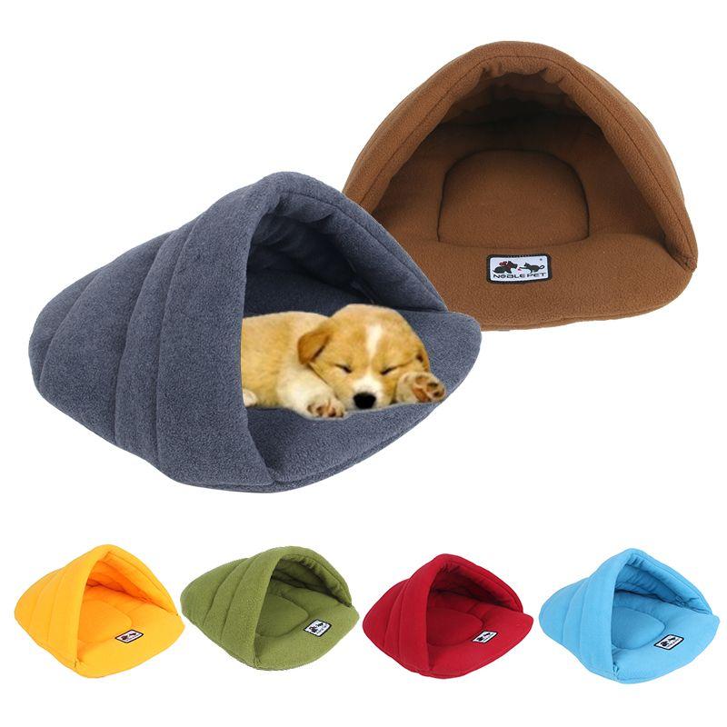 6 couleurs doux polaire chien lits hiver chaud animal de compagnie tapis chauffant petit chien chiot chenil maison pour chats sac de couchage nid Cave lit