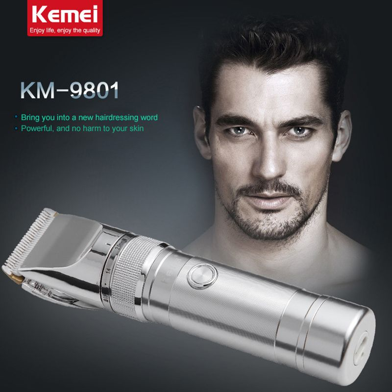 KM9801 kemei rechargeable electric hair clipper razor barber cutting beard trimmer professional hair trimmer <font><b>shaving</b></font> machine