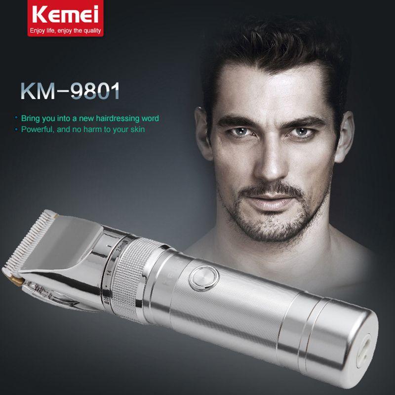 Kemei rechargeable tondeuse à cheveux professionnelle tondeuse électrique rasoir barbier de coupe tondeuse à barbe rasage machine hommes