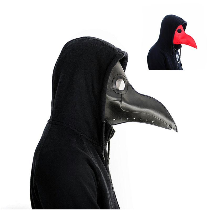 Доктор чума маска клюв доктор маска длинный нос Косплэй фантазии маска чумной доктор Готический Ретро Рок кожа Хэллоуин клюв маски PY