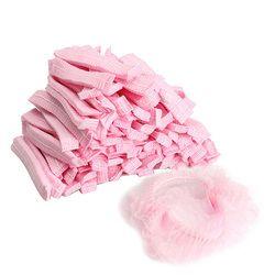 100 unids desechables no tejidos Gorros de ducha plisado sin polvo anti sombrero mujeres hombres Bañeras tapas para Spa Peluquería belleza accesorios