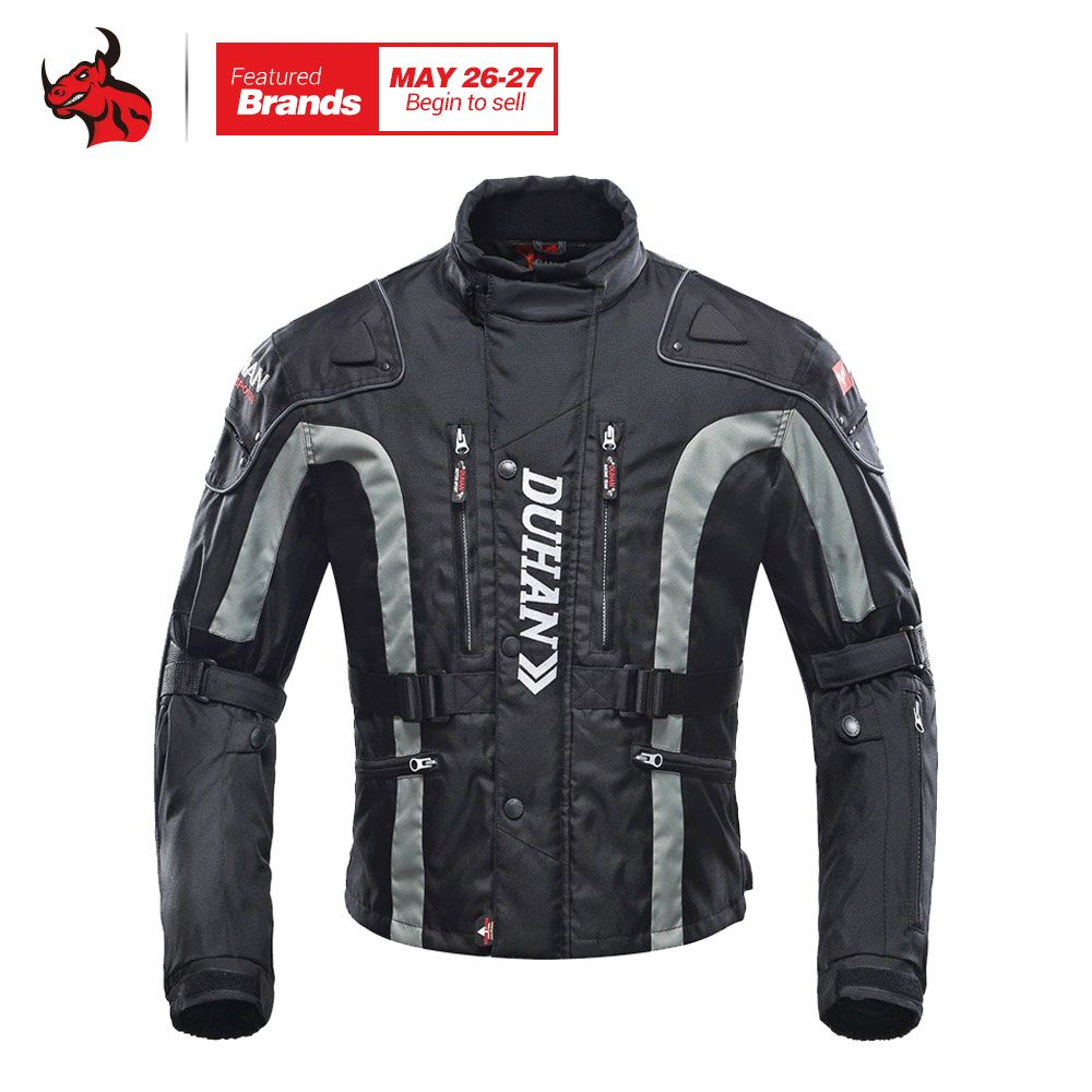 DUHAN Motorcycle Jacket Motocross Equipment Gear Cotton Underwear Cold-proof Moto Jacket Oxford Cloth Blouson Moto 4 Color