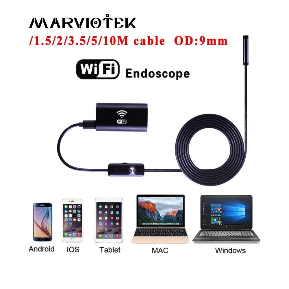 720P wifi endoscope camera ip 9mm dia android endoscope hd iphone endoscope inspection camera 1/3.5/5/10M usb endoscope cameras