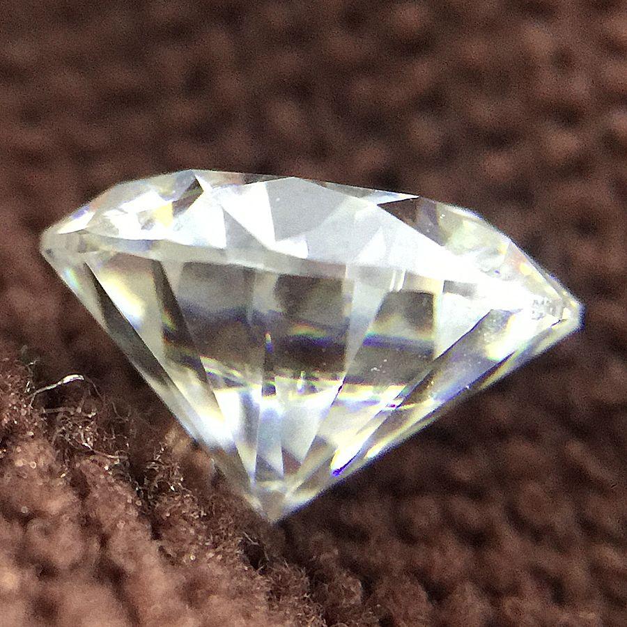 Round Brilliant Cut 2ct Carat 8.0mm DF Color Moissanite Loose Stone VVS1 Excellent Cut Grade Test Positive Lab Diamond