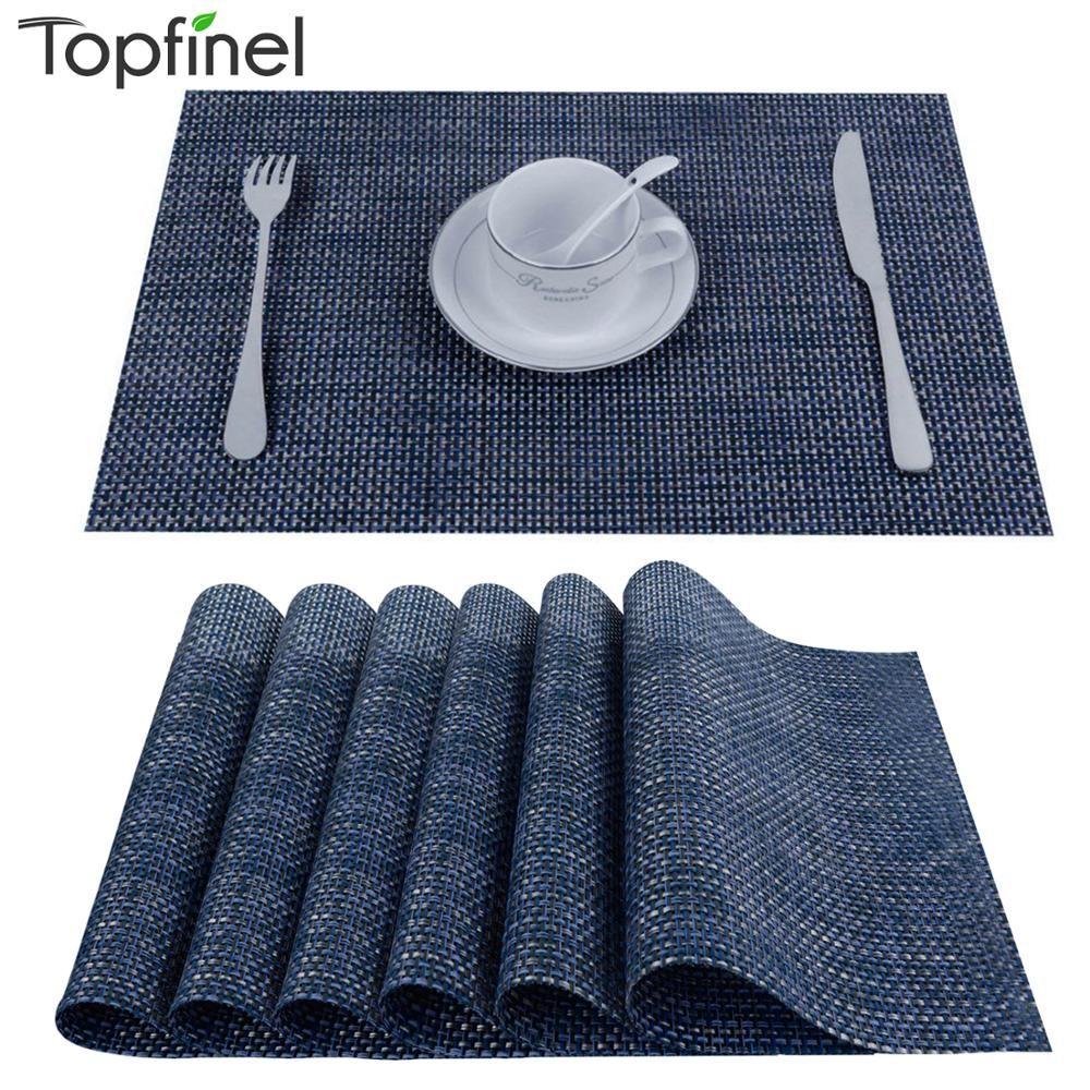 8 pcs/lot napperons de cuisine en PVC pour tapis de Table cheminées individuales napperons