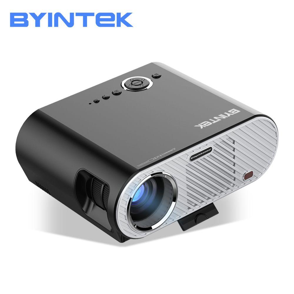 BYINTEK MOON GP90 1280x800 Cinema USB Full HD Video WXGA LED HDMI VGA 1080P Home Theater Projector Beamer Projetor Proyector