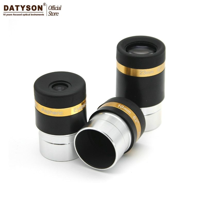 Aspheric Eyepiece Telescope HD Wide Angle 62 Degree Lens 4/10/23mm Fully Coated for 1.25