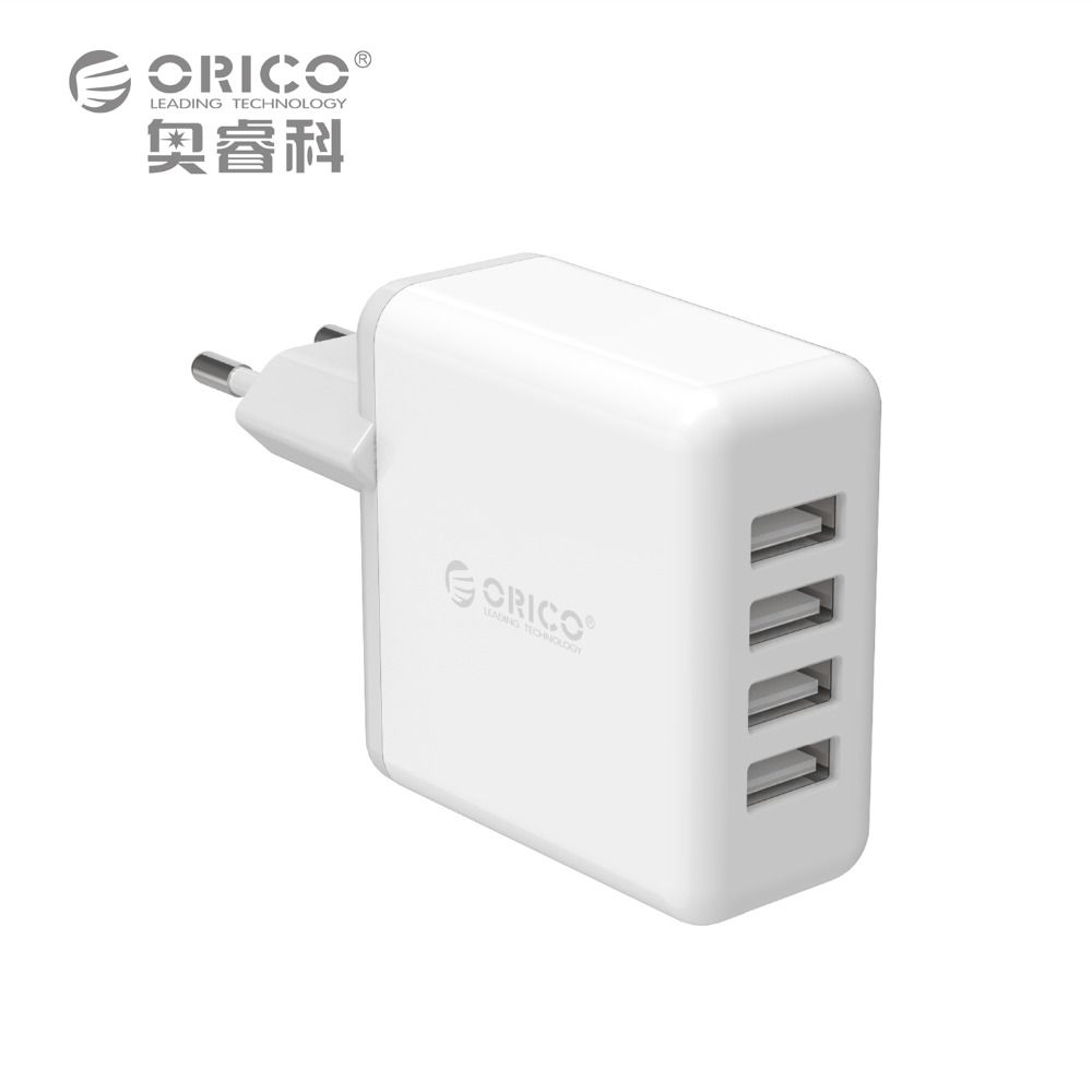 ORICO DCM-4U 4 USB Super Charger 5V6.8A 34W Output MAx Intelligent Identification 5V2.4A Wall Charging for Phone - White