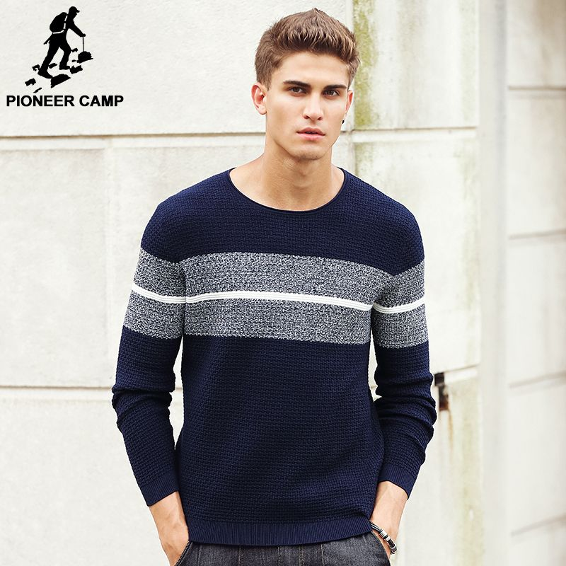Pioneer Camp 2018 New Spring Autumn Brand clothing Men Sweaters Pullovers Knitting fashion Designer Casual Man Knitwear 611201