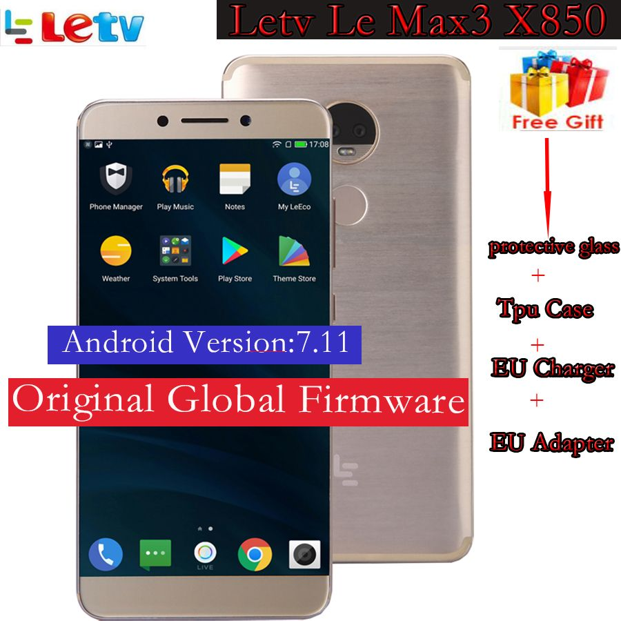 Original Letv <font><b>LeEco</b></font> RAM 6G ROM 128G le Max3 X850 FDD 4G Cell Phone 5.7 Inch Snapdragon 821 2560x1440 compare to X720 X900 x820
