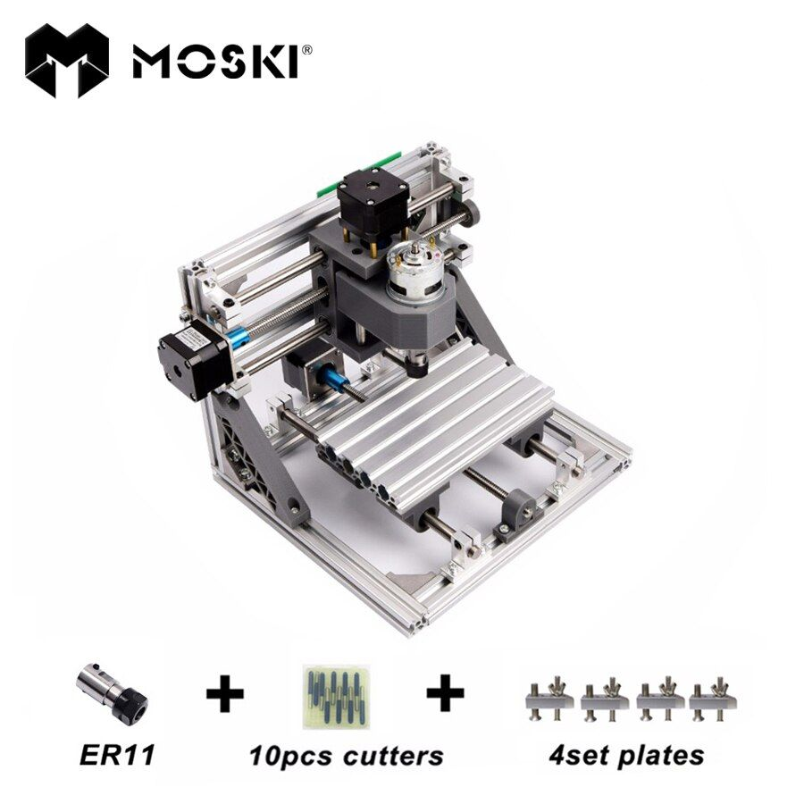 MOSKI ,CNC1610 with ER11,mini cnc laser engraving machine,Pcb Milling Machine,Wood Carving machine,cnc router,cnc 1610,toys gift