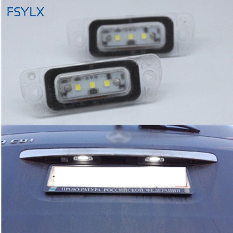 FSYLX Xenon White Canbus LED License Plate Light FOR MERCEDES-BENZ W251 W164 X164 A768 R300 R320 Gl450 AMG number plate lamps