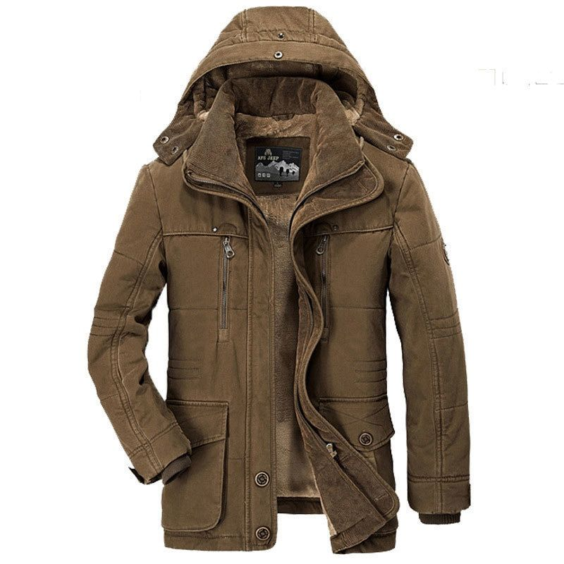 Afs Jeep Winter Parkas Men Thick Coats Jackets 5XL~7XL Casual Fashion Warm Multi-Pocket Drop Shipping Brand Clothes Jacket Coats