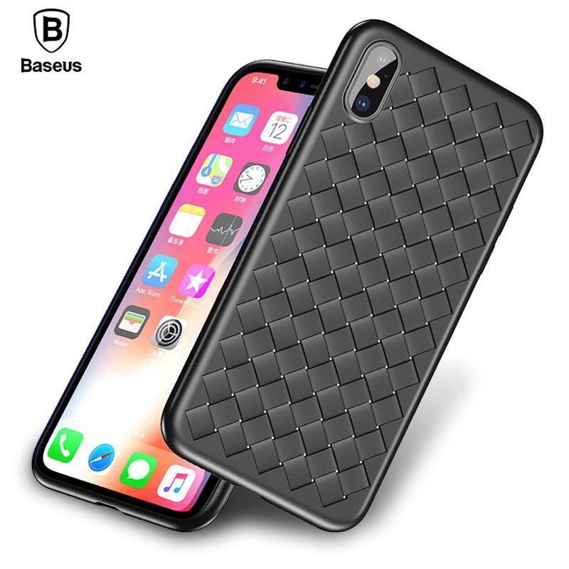 Baseus Weave-kasten Für iPhone X IX Luxury Ultra Thin Schlank Rückseite Fall Für iPhone 10 Capinhas Weiche TPU Coque Fundas