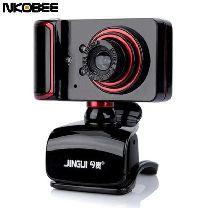 NKOBEE USB Webcam Camera with Mic Night Vision Web Cam USB Camera for Desktop PC Laptop Microphone Webcamer Computer Accessories