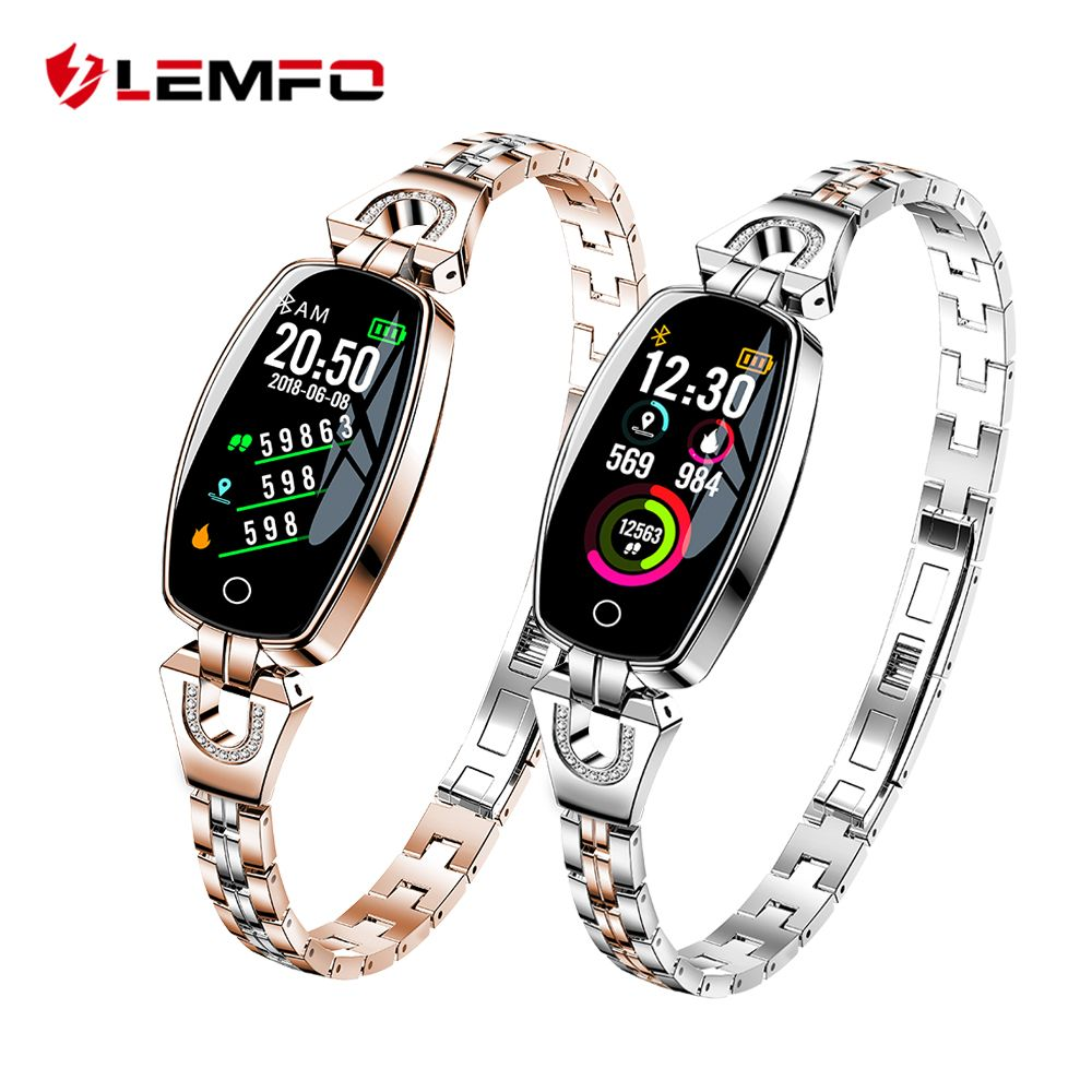 LEMFO H8 montre connectée Femmes 2018 Étanche Surveillance de la Fréquence Cardiaque Bluetooth Pour Android IOS bracelet de fitness Smartwatch