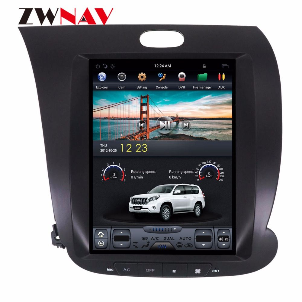 ZWNVA Tesla IPS Screen Android 6.0 64+2GB Car GPS Navigation Radio No CD Player For KIA CERATO K3 FORTE 2013 2014 2015 2016 2017
