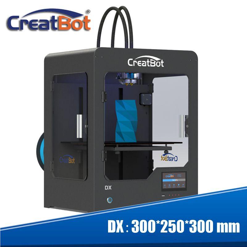 Professionelle OEM impresora 3d verwenden PLA, ABS, PC, carbon faser, Nylon, kunststoff material 3d drucker 300x250x300mm creatbot dx serie