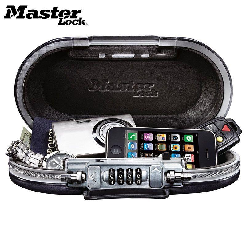 Master Lock Tragbare Safe Passwort Lock Mini Safes Schmuck Bargeld Karte Telefon Speicher Boxen Sicherheit Strongbox Draht Seil Befestigt