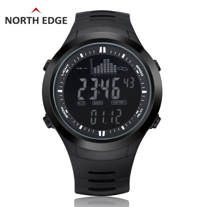 Digital-watch Men watches outdoor digital watch clock fishing altimeter <font><b>barometer</b></font> thermometer altitude climbing hiking hours