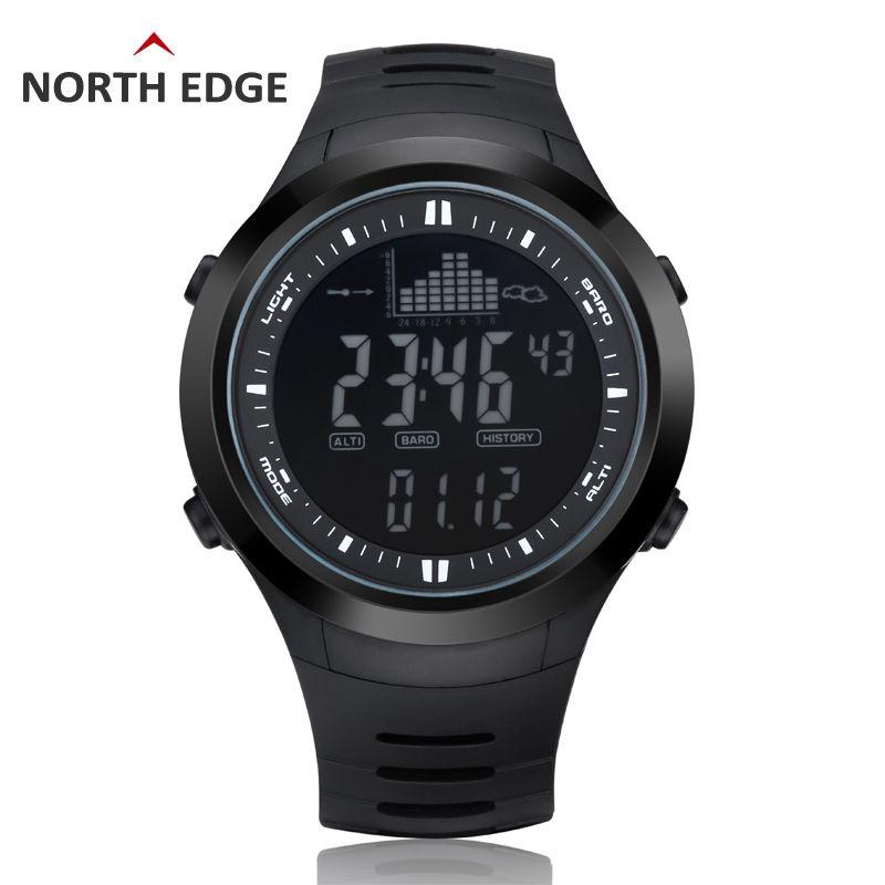 Digital-watch Men watches outdoor digital watch clock fishing <font><b>altimeter</b></font> barometer thermometer altitude climbing hiking hours