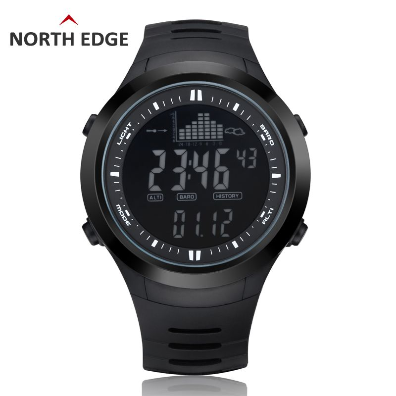 Digital-watch Men watches outdoor digital watch <font><b>clock</b></font> fishing altimeter barometer thermometer altitude climbing hiking hours