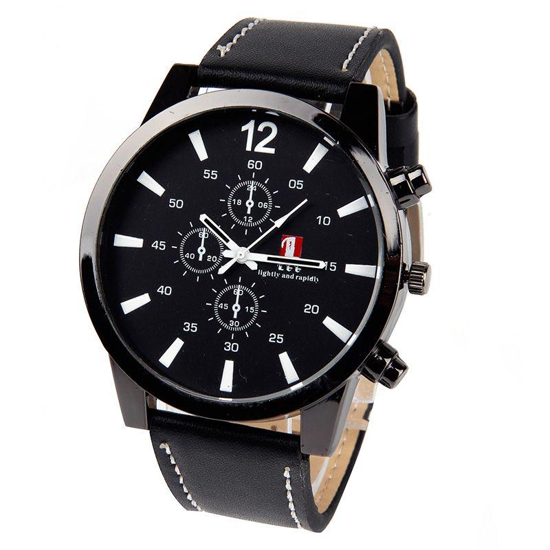 2017 leucht Herrenuhr Luxus Top-marke geschäfts Männlich Uhr Quarz-Armbanduhr GMINSG Mode Leder quarzuhr Relogios