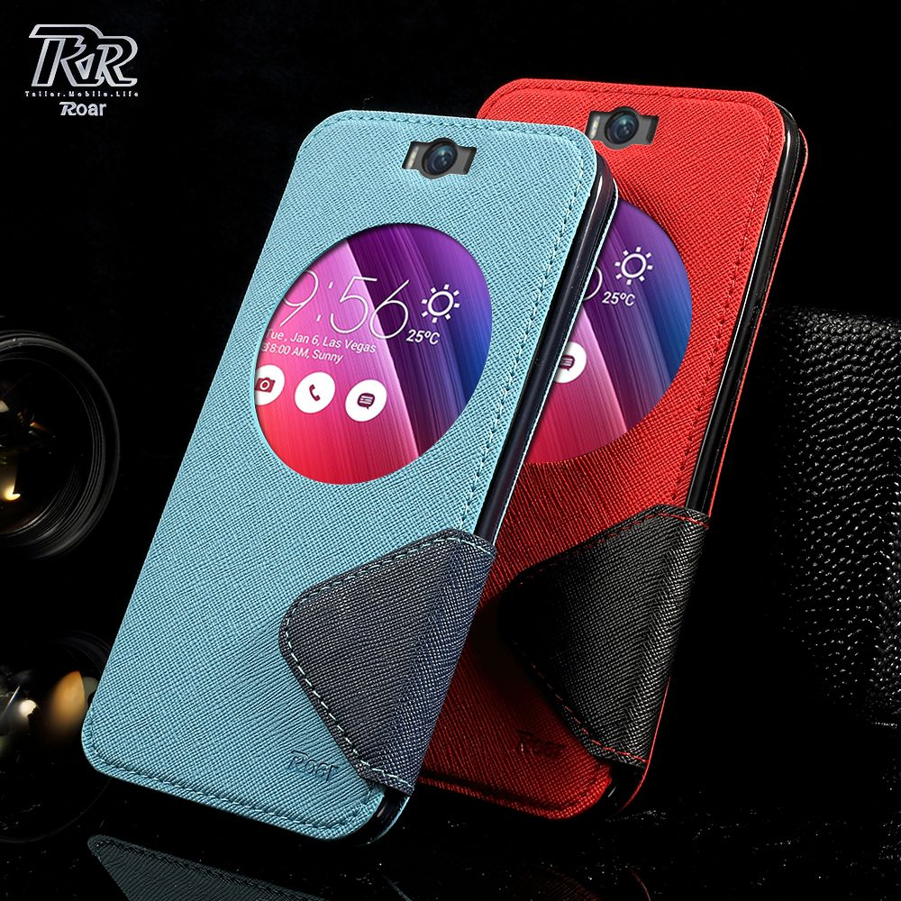 ROAR funda For Asus Z00UD Bag Diary View PU Leather Cover for Asus Zenfone Selfie ZD551KL Smartphone Protect Coque Shell Case