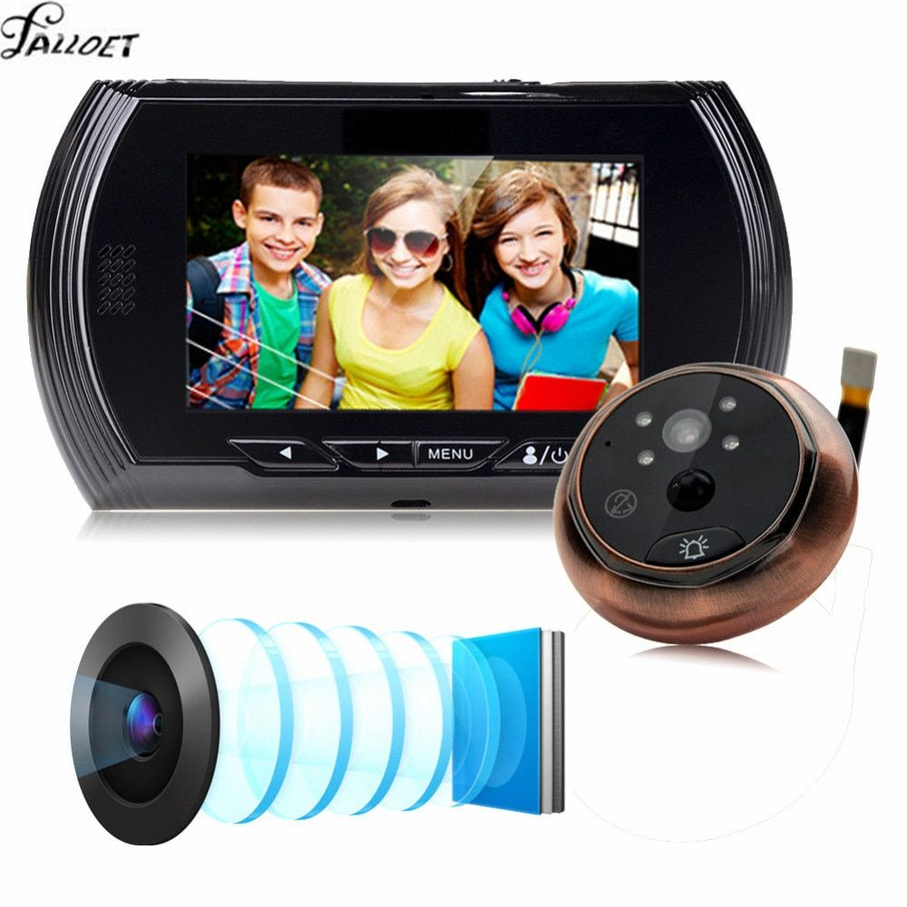 4.3 Inch HD Smart Digital Door Camera Video Peephole Viewer Video Record IR Night Vision PIR Motion Sensor Doorbell