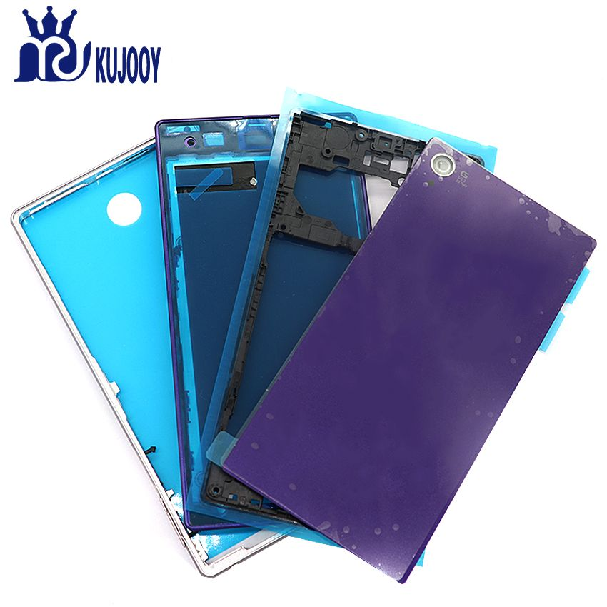 New Z1 Full Housing For Sony Xperia Z1 L39 L39H C6902 Front Middle Frame Plate Back Battery Cover