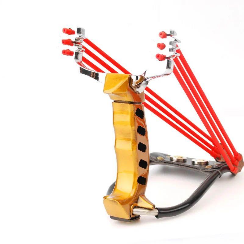 2018 gros pliage poignet fronde catapulte jeux de plein air puissant chasse arc et flèche élingue outils chasse fronde tir