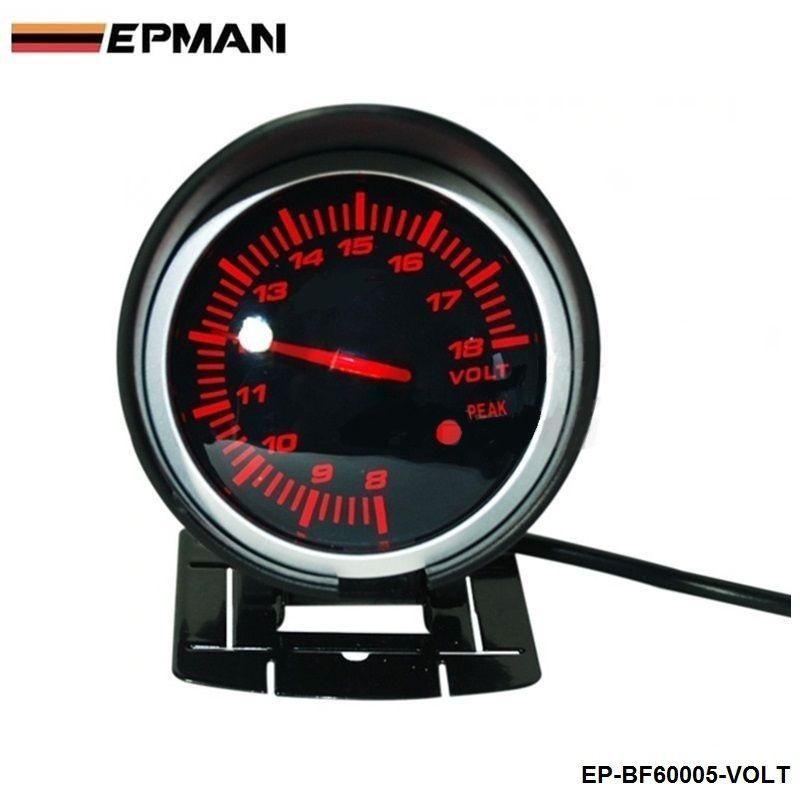 EPMAN - BF 60mm LED Volt Gauge High Quality Auto Car Motor Gauge with Red & White Light For BMW e34 2000-2003 EP-BF60005-VOLT