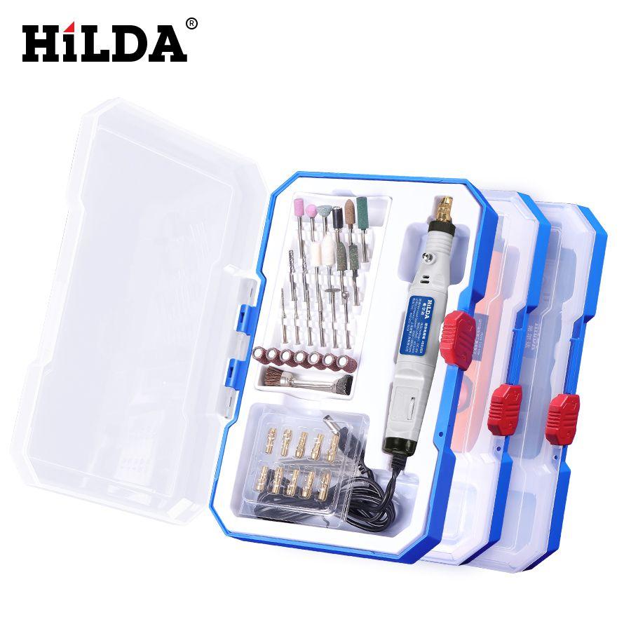 HILDA Mini perceuse outil rotatif 18V stylo de gravure avec accessoires de meulage Set multifonction Mini stylo de gravure pour outils Dremel