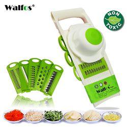 WALFOS мандолина Овощечистка Терка измельчитель для овощей инструменты с 5 лезвием морковь Терка лук, овощ слайсер кухня интимные аксессуары