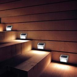 1-4 piezas luz Solar 3LED al aire libre jardín camino escaleras lámpara impermeable ahorro de energía de acero inoxidable LED Solar pared lámpara