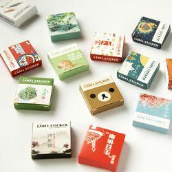40 unids/set Mini serie de dibujos animados Kawaii álbum Scrapbooking sello papelería material escolar suministros (tt-2834)