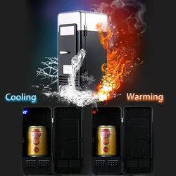 Homgeek portable mini nevera USB gadget bebidas enfriador calentador refrigerador interno con luz led para el hogar