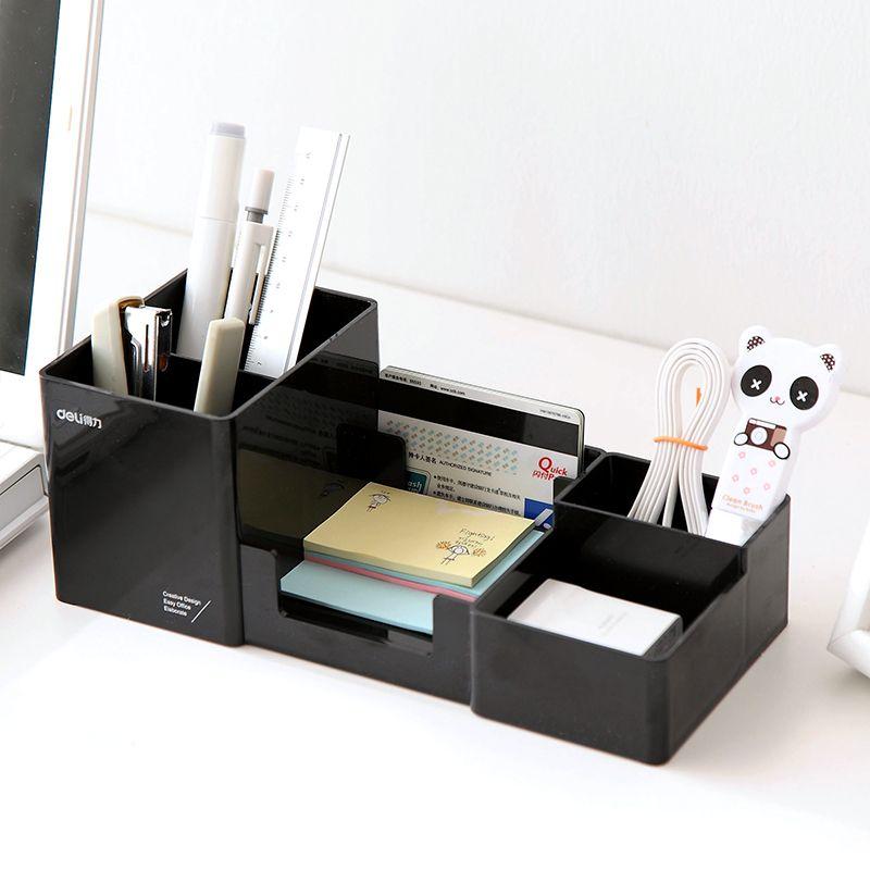 Étagères de bureau simples de haute qualité boîte de rangement bureau décor papeterie maquillage organisateur cosmétique pour bijoux papeterie Hussif