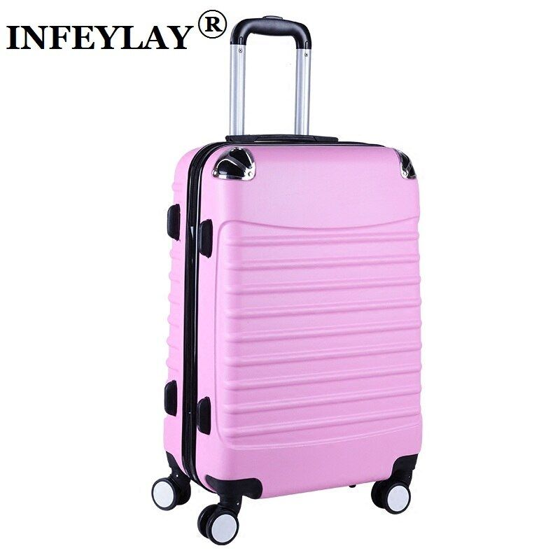 20/24 inches ABS girl students spinner trolley case child creative Travel luggage rolling suitcase women business Boarding box