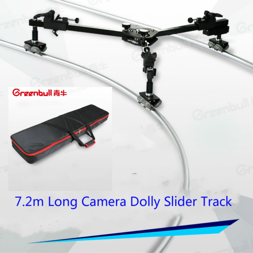 GreenBull Easyshoot Video camra Slider Dolly 7.2m camera track MAX Load 30KG Portable slider track for HDV Video film HDSLR
