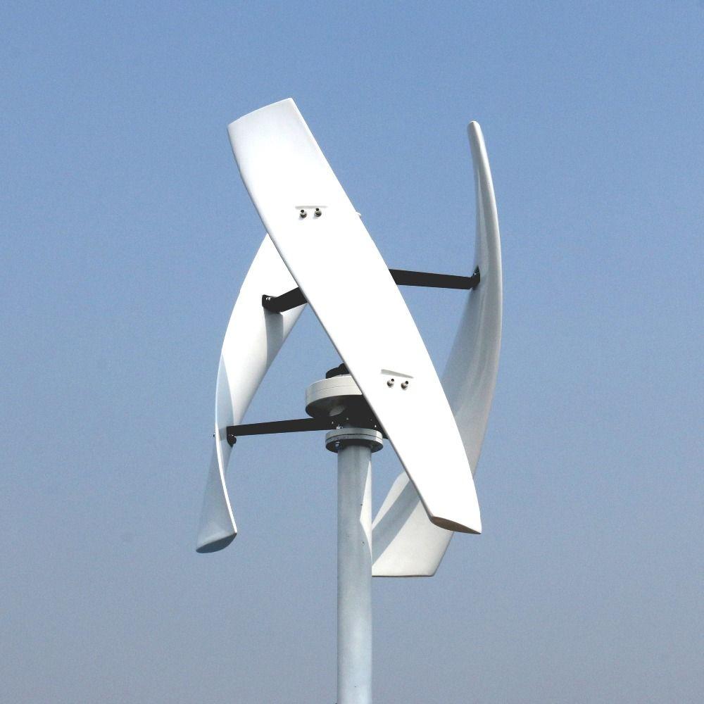 600 W 12 V 24 V Spirale Wind Turbine Generator Rot/Weiß VAWT Vertikale Achse Wohn energie mit MPPT /PWM Ladegerät Controller