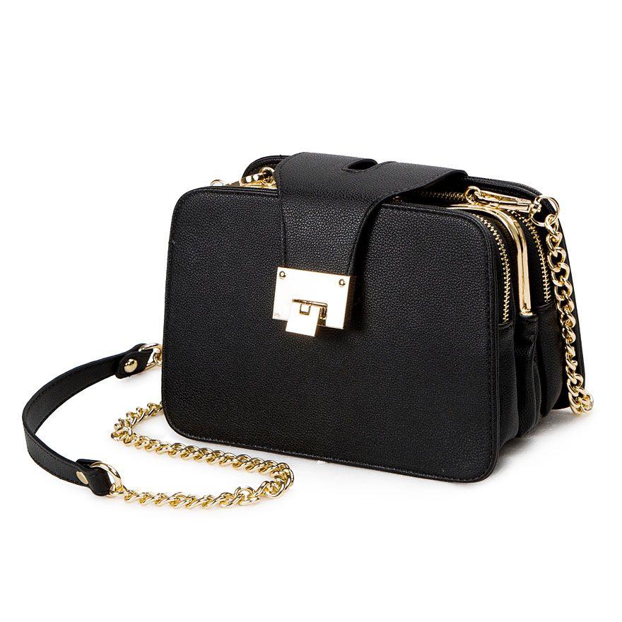 2018 Spring New Fashion Women Shoulder Bag Chain Strap Flap Designer Handbags <font><b>Clutch</b></font> Bag Ladies Messenger Bags With Metal Buckle