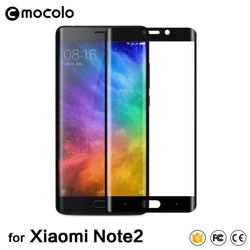 Pour Xiao mi mi Note 2 protecteur d'écran Original Mocolo couverture complète 9 H 3D film de verre trempé pour Xiao mi Note 2 protecteur d'écran
