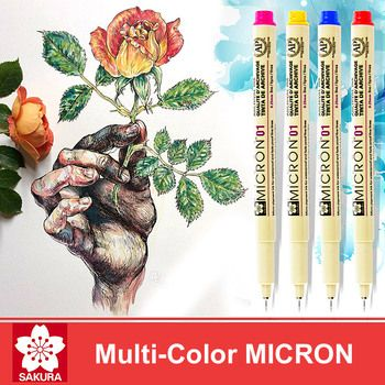 LifeMaster Sakura Pigma Micron  Pen Fineliner Brush Markers Alcohol Ink Arts and Crafts Supplies Drawing Pens Colored Ink Pen