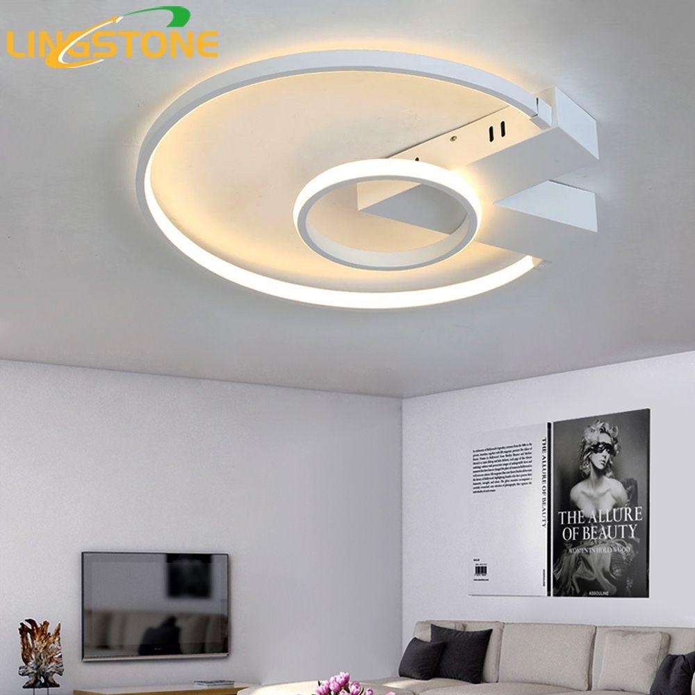 Led Ceiling Lamp Plafonnier Modern Lighting Plafondlamp Ring Light With Remote Control Living Room Bedroom Restaurant Bathroom