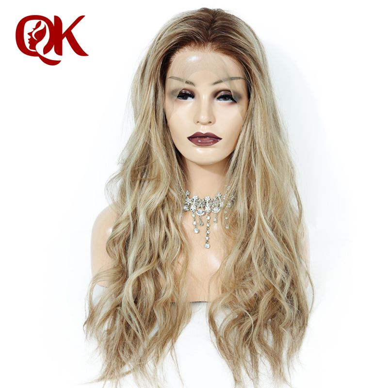 QueenKing hair Full Brazilian Remy Human hair Lace Wig 150% Density Lemi Color T4/27/613 Ombre Color Wigs Wigs for women