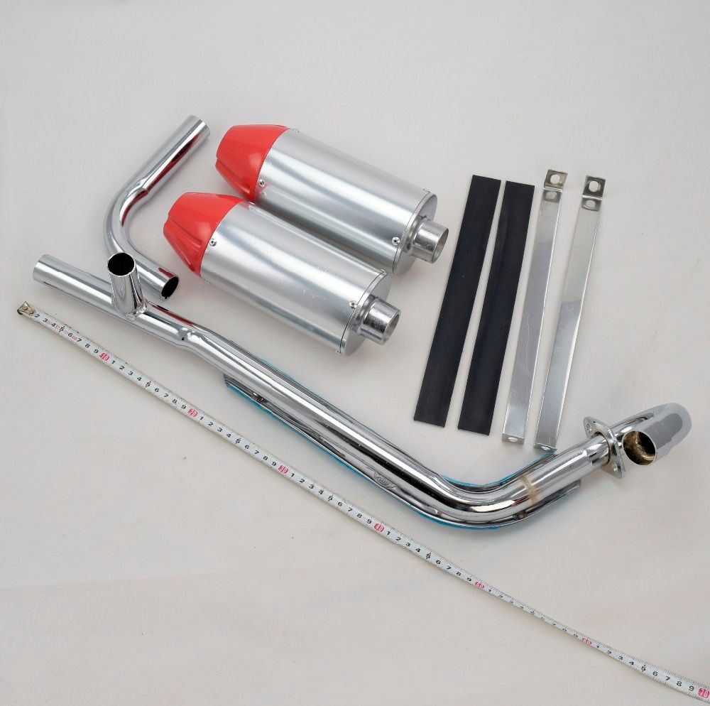 Apollo dual exhaust pipe bullet off-road motorcycle muffler dirt pit bike 50cc 70cc 90cc 110cc 125cc accessories