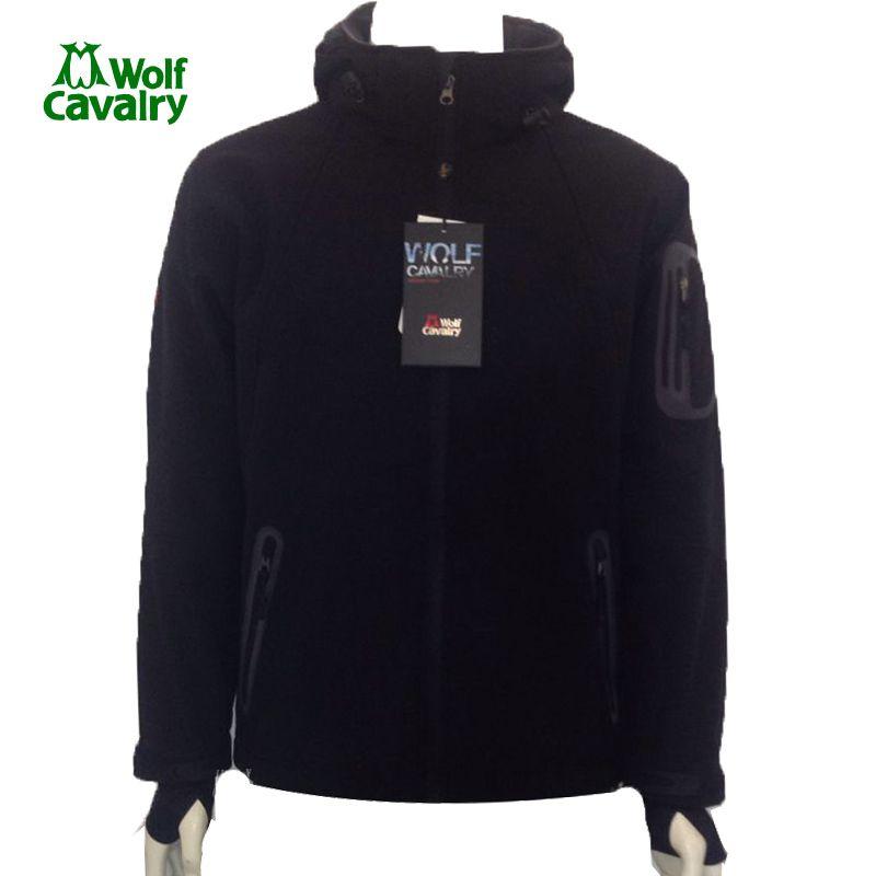 CavalryWolf de laine En Plein Air Softshell Veste Hommes Coupe-Vent Imperméable Mâle Randonnée Camping Randonnée vêtements chauffés