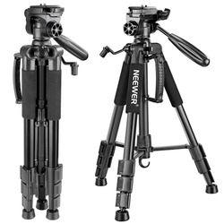 Neewer Портативный 56 дюймов/142 см Алюминий Камера штатив 3-ходовой поворотный полукруглой потайной головкой + сумка для цифровой зеркальной кам...
