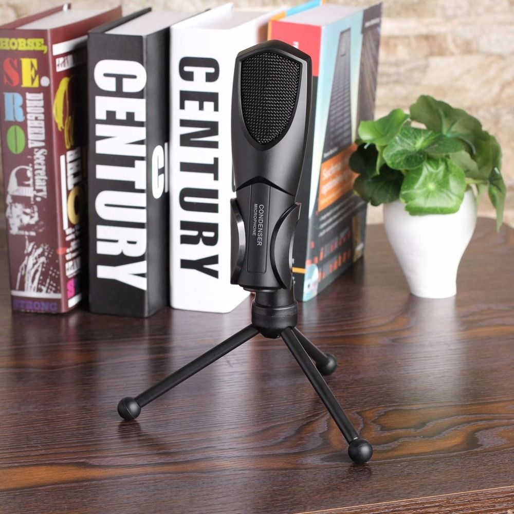 Professional USB Wired Condenser Sound Podcast Studio Microphone for PC Laptop Computer Plug & Play Long Term Durability